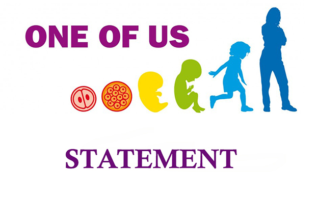 """One of Us Statement: The European Federation """"One of Us"""" expresses its full rejection to a possible EU taxpayer funding to perform or promote abortion"""